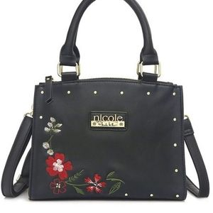 Nicole By Nicole Miller Emma Mid Embroided Satchel